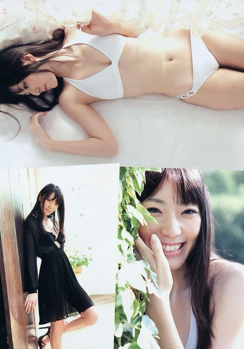 松井咲子スレンダー水着姿画像!