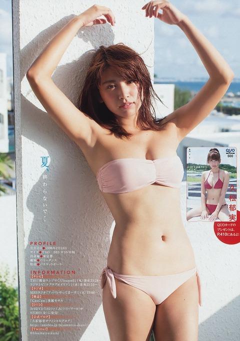 久松郁実のグラビアを見るだけで反射的に抜きたくなる^^